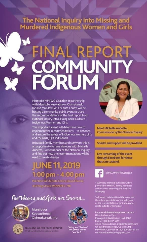 Poster for MMIWG Winnipeg Forum