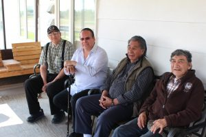 Grand Chief Settee visits with Elders in Bunibonibee