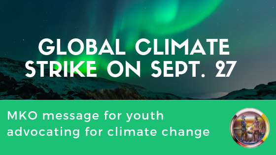 MKO Commends Youth Taking Part in the Global Climate Strike