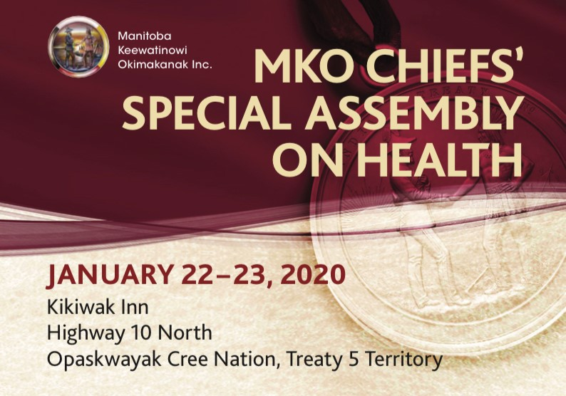 MKO hosting Chiefs' Special Assembly on Health this week in Opaskwayak Cree Nation