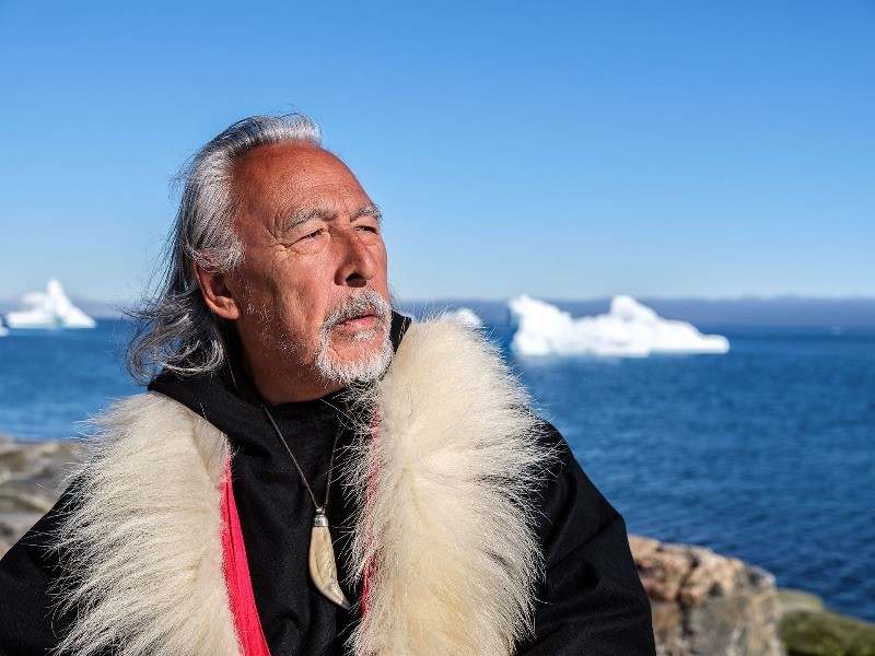 An Inuk Elder is pictured