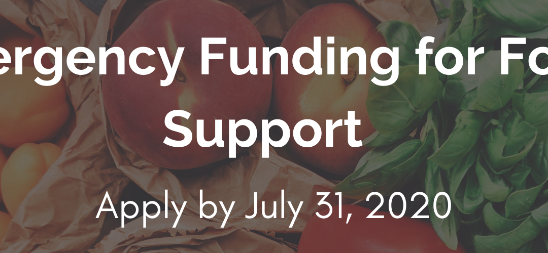 Apply by July 31 for emergency funding for food support
