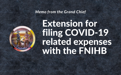 Memo from Grand Chief Settee to the MKO Chiefs: Extension for filing COVID-19 related expenses with the FNIHB