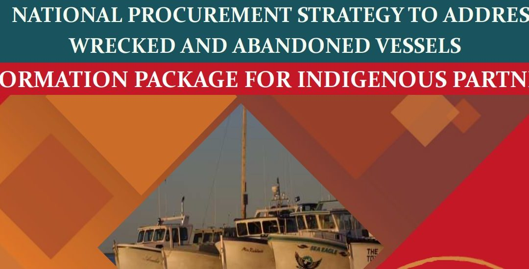 Take part in Canada's National Procurement Strategy to Address Wrecked and Abandoned Vessels