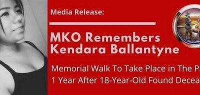MKO Remembers Kendara Ballantyne: Memorial Walk To Take Place in The Pas One Year After 18-Year-Old Found Deceased