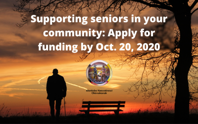 Supporting seniors in your community: Apply for funding by Oct. 20, 2020