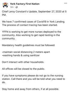 York Factory notice