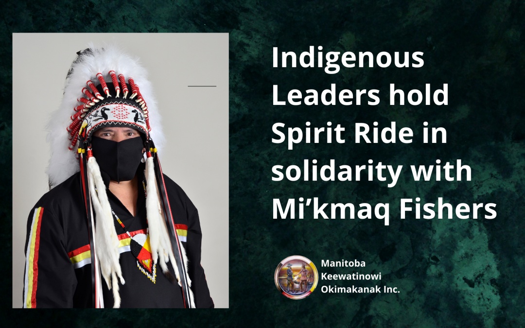 Indigenous Leaders hold Spirit Ride in solidarity with Mi'kmaq Fishers