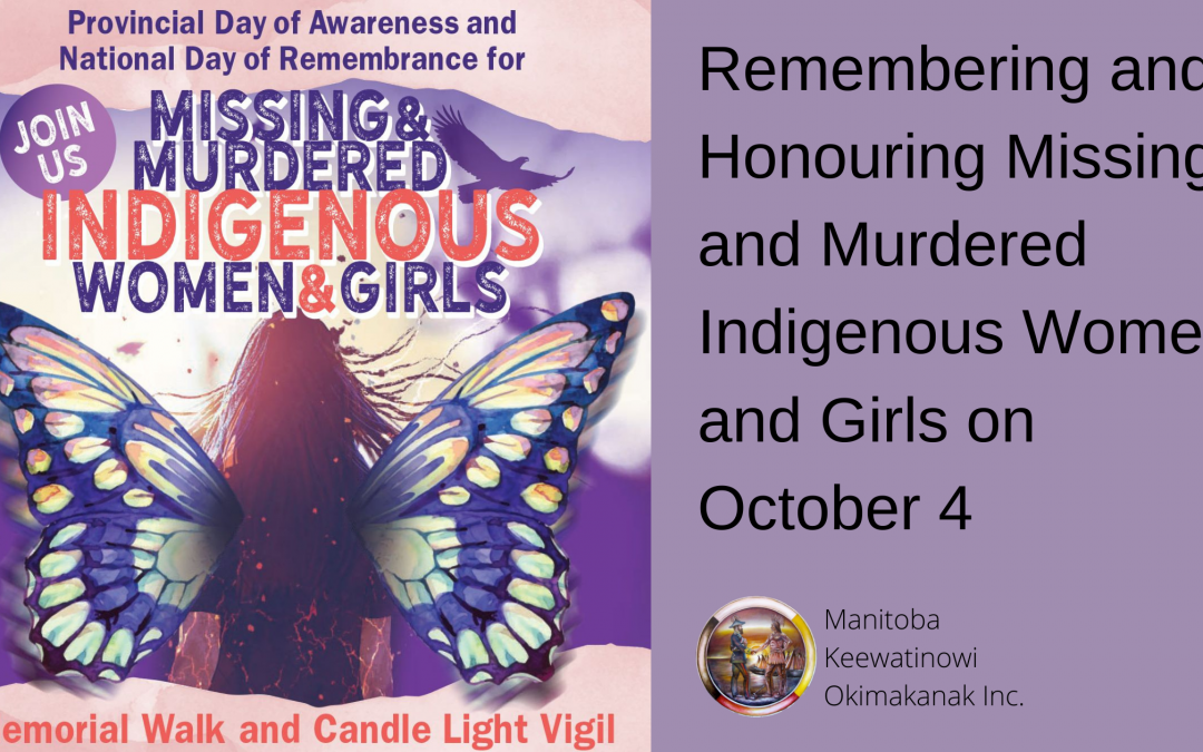 Remembering and Honouring Missing and Murdered Indigenous Women and Girls on October 4
