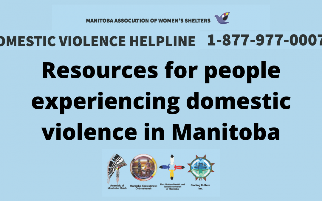 Resources for people experiencing domestic violence in Manitoba