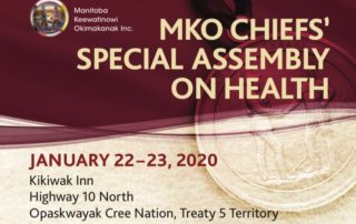 A poster that says MKO Chiefs' Special Assembly on Health along with other text
