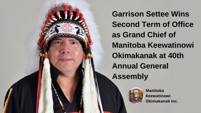 Garrison Settee re-elected as MKO Grand Chief