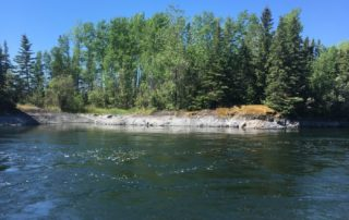 Clean water and trees in Manto Sipi Cree Nation