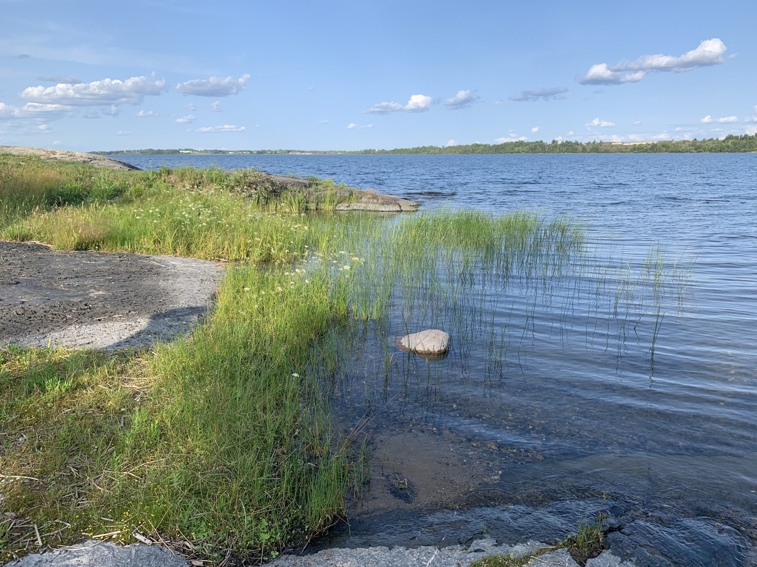 Waterfront view in Bunibonibee Cree Nation