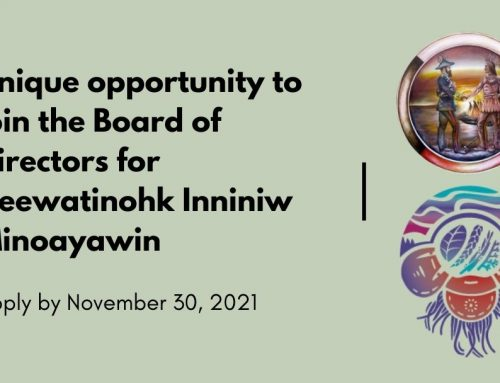 Unique opportunity to join the Board of Directors for Keewatinohk Inniniw Minoayawin