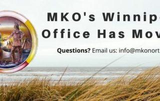 MKO's Winnipeg Office has Moved