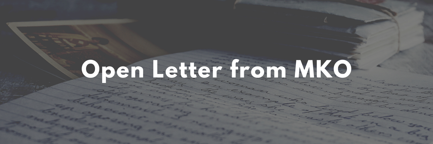 Open letter from MKO