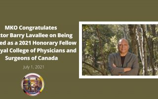 MKO congratulations Dr. Barry Lavallee