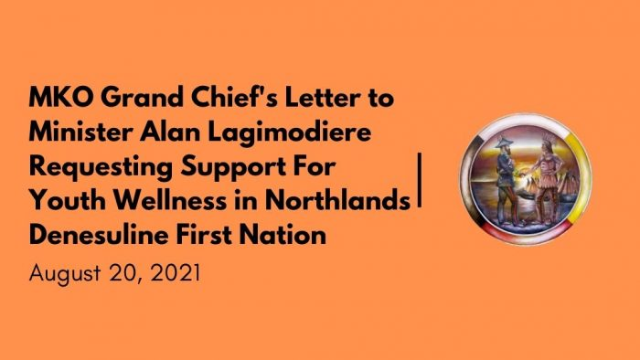 MKO Grand Chief's Letter to Minister Alan Lagimodiere