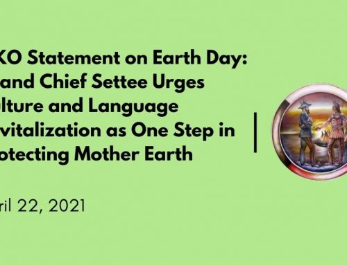 MKO Statement on Earth Day: Grand Chief Settee Urges Culture and Language Revitalization as One Step in Protecting Mother Earth