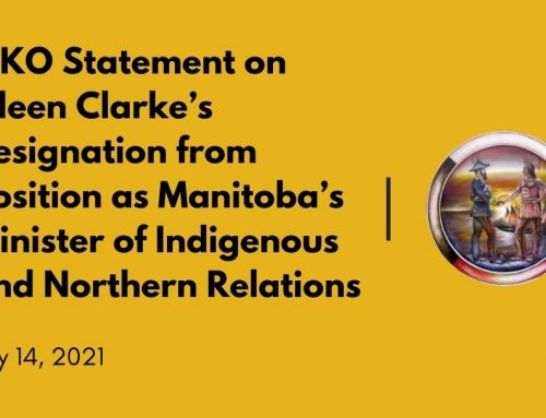MKO Statement on Eileen Clarke's Resignation from Position as Manitoba's Minister of Indigenous and Northern Relations