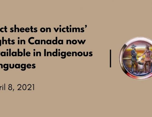 Fact sheets on victims' rights in Canada now available in Indigenous languages