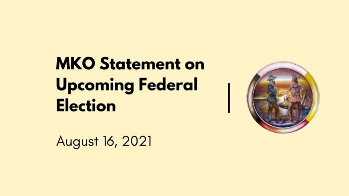 MKO statement on upcoming federal election