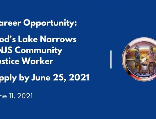 Career Opportunity: God's Lake Narrows FNJS Community Justice Worker
