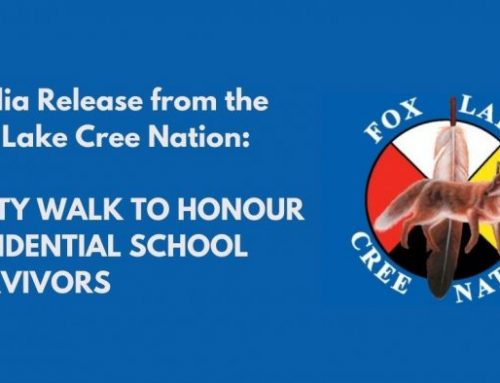 Media Release from the  Fox Lake Cree Nation: Unity Walk to Honour Residential School Survivors