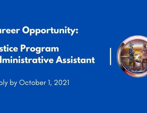 Career Opportunity: Justice Program Administrative Assistant