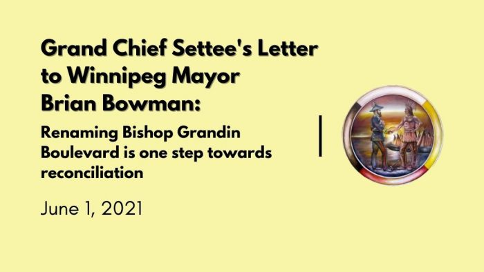 The Grand Chief's Letter to Mayor Bowman