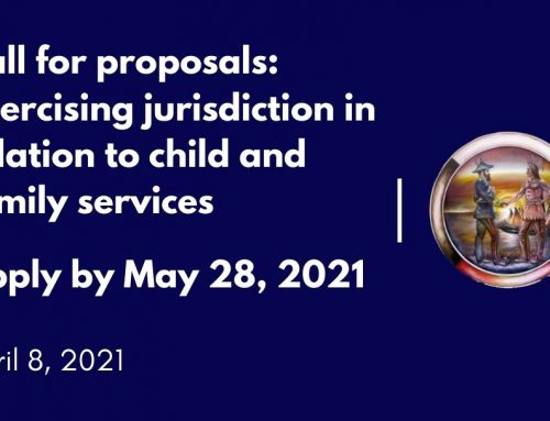 Call for proposals: Exercising jurisdiction in relation to child and family services
