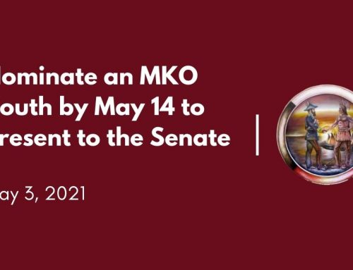 Nominate an MKO Youth by May 14 to Present to the Senate